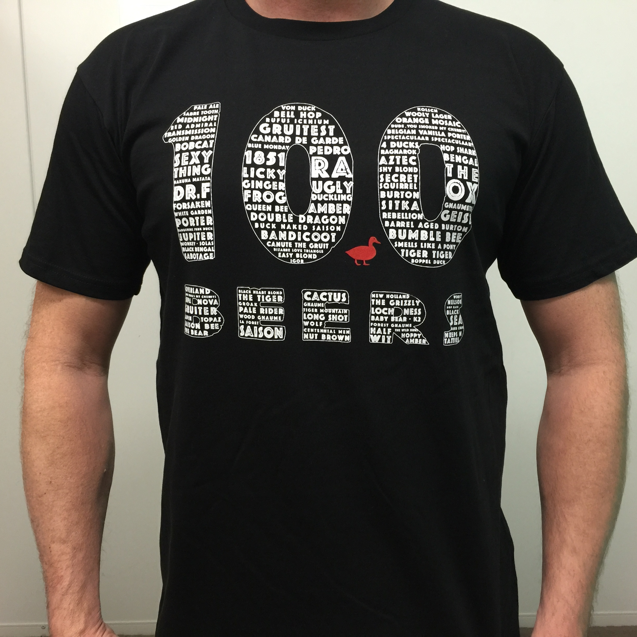 Mens 100 beers t'shirt – price includes postage